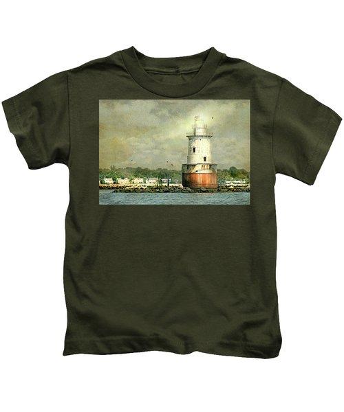 Stamford Harbor Lighthouse Circa 1882 Kids T-Shirt