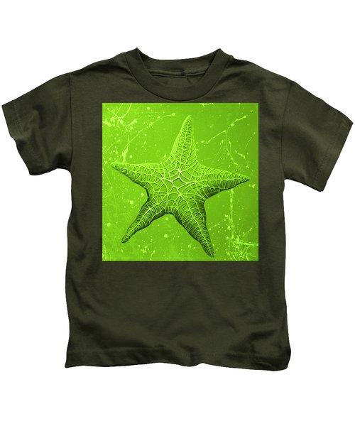 Starfish In Green Kids T-Shirt