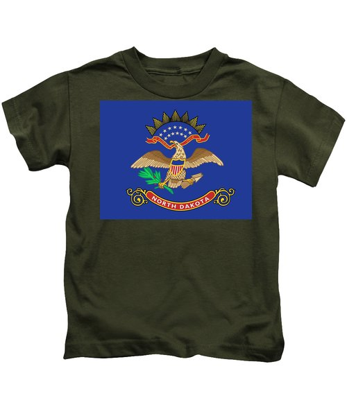 State Flag Of North Dakota Kids T-Shirt