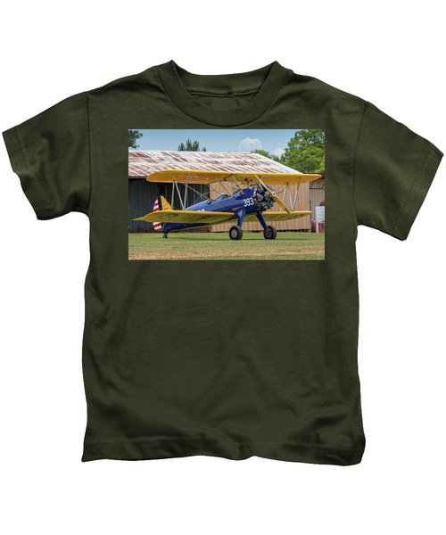 Stearman And Old Hangar Kids T-Shirt