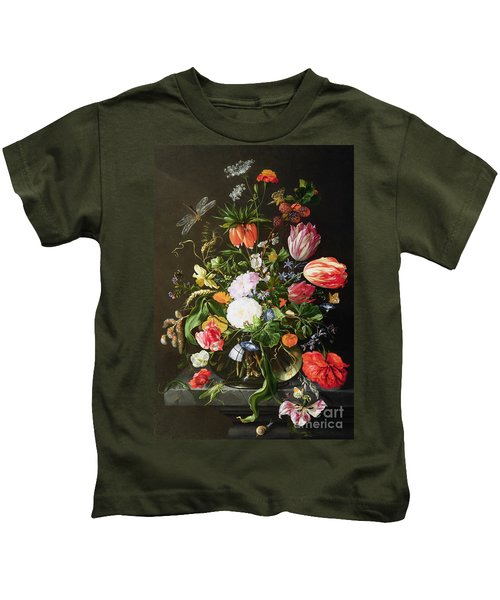 Still Life Of Flowers Kids T-Shirt