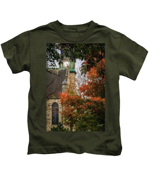 Stone Chapel Fall Kids T-Shirt