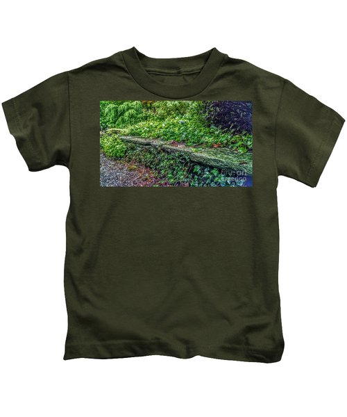 Stone Wall At Laurelwood Kids T-Shirt