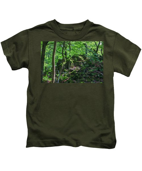 Stones In A Forest In Vogelsberg Kids T-Shirt