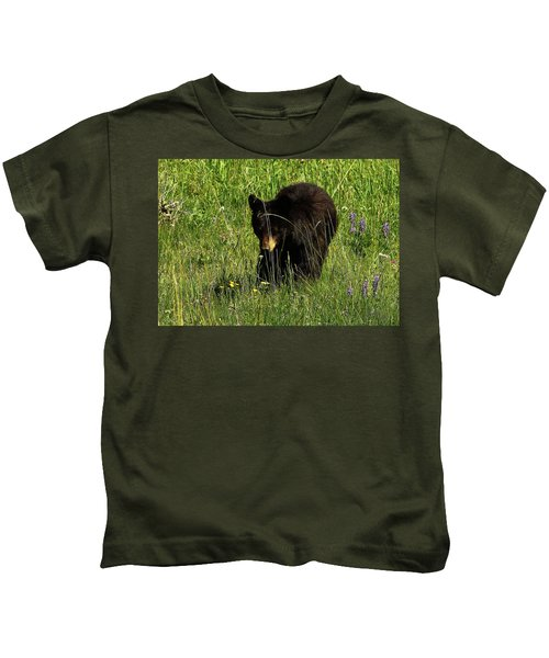 Stopping To Smell The Flowers Kids T-Shirt