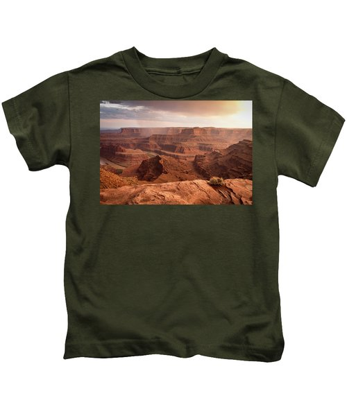 Storm Over Canyonlands Kids T-Shirt