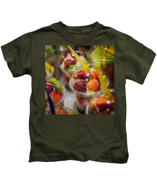 Strawberry Desert - La Bouqueria - Barcelona Spain  Kids T-Shirt