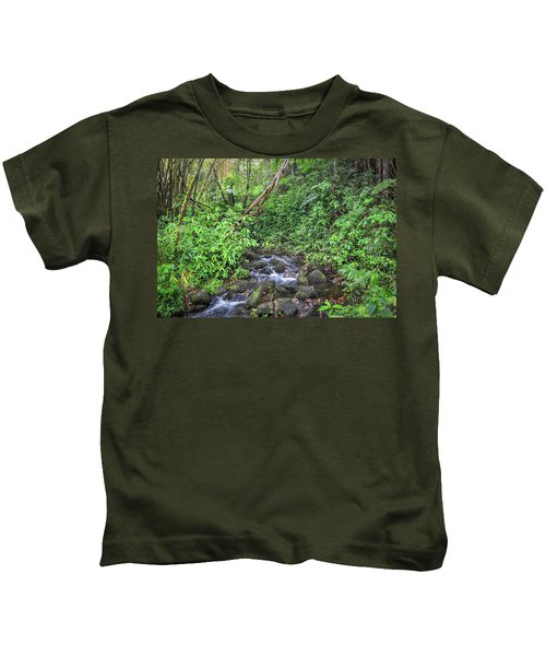 Stream In The Rainforest Kids T-Shirt