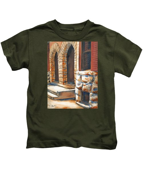 Street Scene Oil Painting Kids T-Shirt