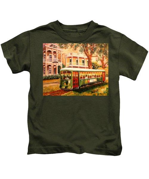 Streetcar In The Garden District Kids T-Shirt