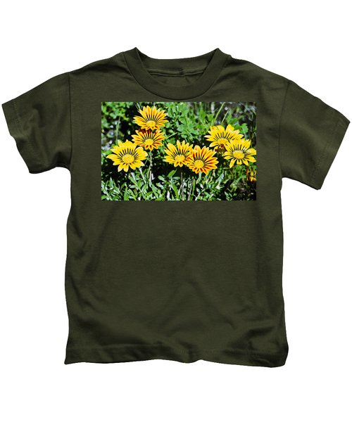 Striped Daisies--film Image Kids T-Shirt