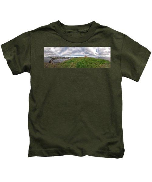 Stykkisholmur Harbor Pano Kids T-Shirt