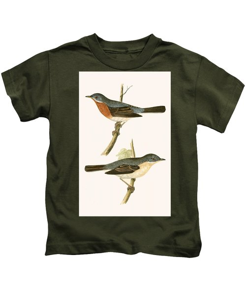Sub Alpine Warbler Kids T-Shirt by English School