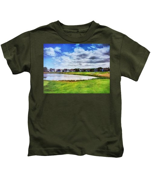 Kids T-Shirt featuring the photograph Suburbia by Chris Montcalmo