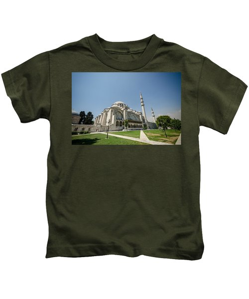 Suleymaniye Mosque On A Sunny Day Kids T-Shirt