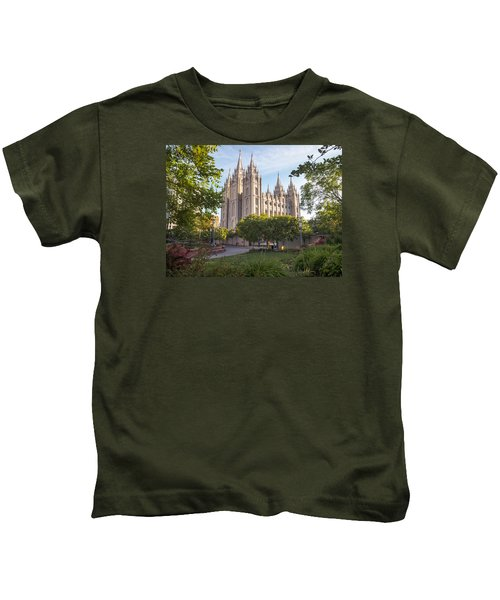 Summer At Temple Square Kids T-Shirt