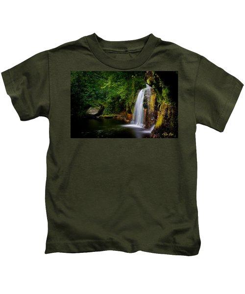 Summer At Wolf Creek Falls Kids T-Shirt