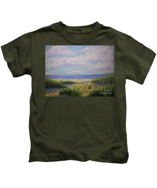 Summer Day At The Beach Kids T-Shirt