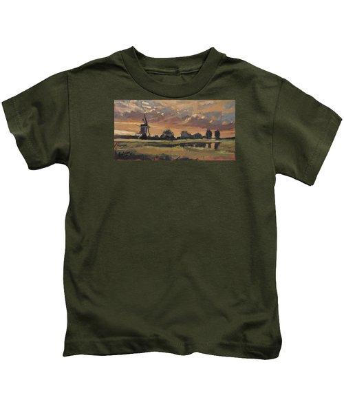Summer Evening In The Polder Kids T-Shirt
