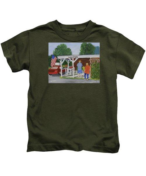 Summer Farm Stand Kids T-Shirt