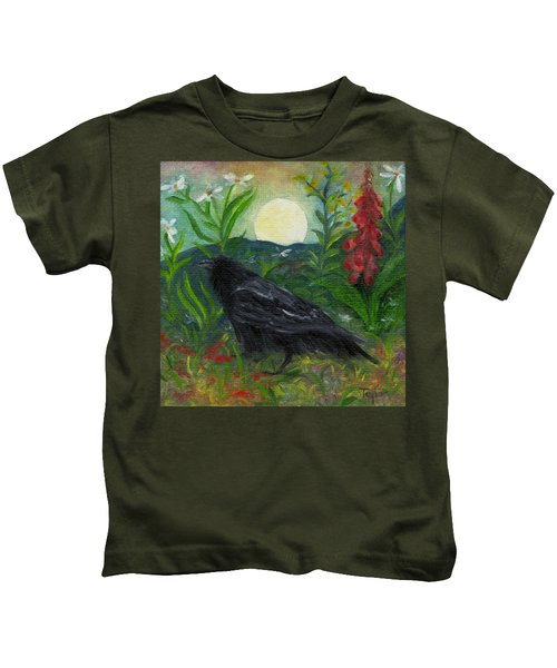 Summer Moon Raven Kids T-Shirt