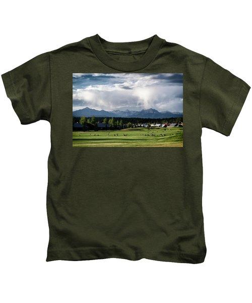 Summer Mountain Paradise Kids T-Shirt