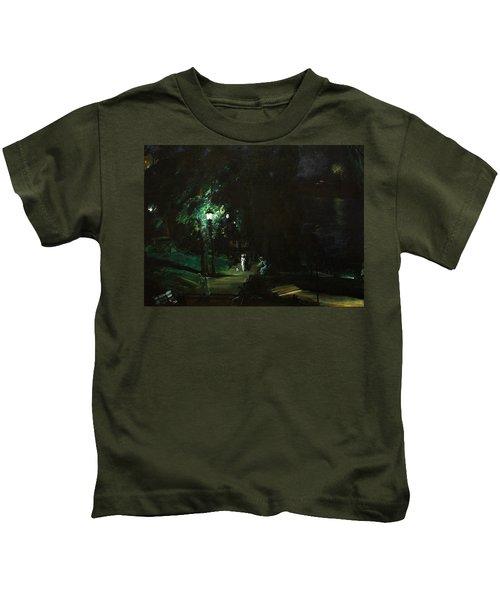 Summer Night Riverside Drive Kids T-Shirt