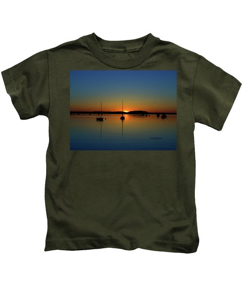 Summer Sunset Monument Beach Kids T-Shirt