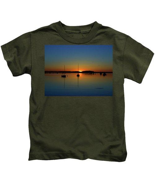 Summer Sunset Monument Beach Kids T-Shirt