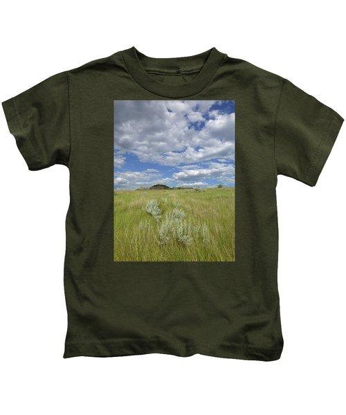 Summertime On The Prairie Kids T-Shirt