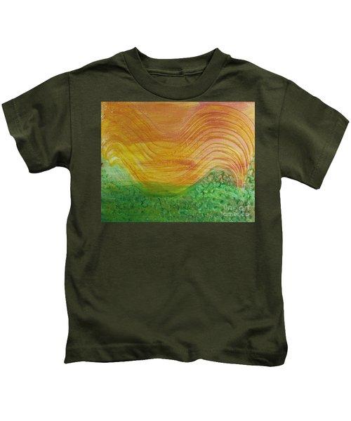 Sun And Grass In Harmony Kids T-Shirt