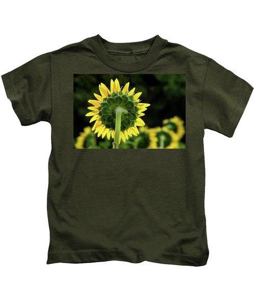 Sunflower Back Kids T-Shirt