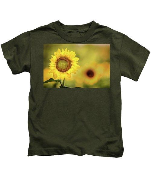 Sunflower In A Field Kids T-Shirt