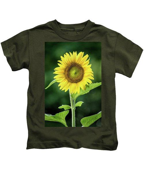 Sunflower In Bloom Kids T-Shirt