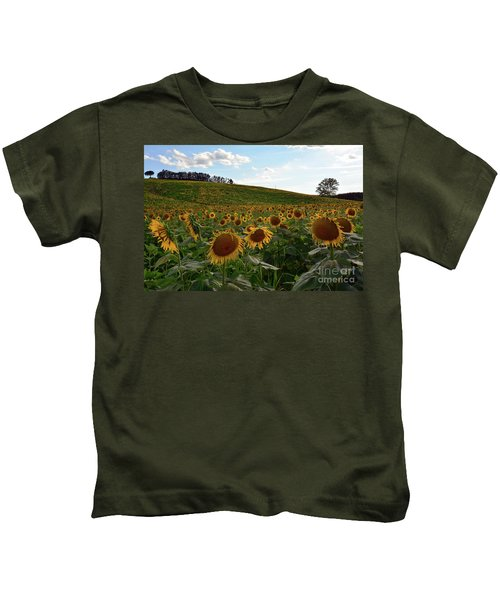 Sunflowers Fields  Kids T-Shirt