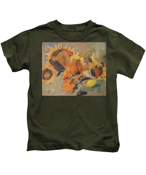 Sunflowers With Lemon Kids T-Shirt