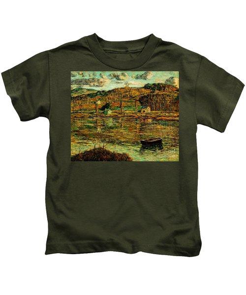 Sunlight On The Harlem River 1919 Kids T-Shirt
