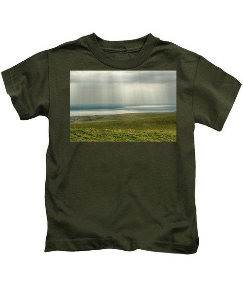 Sunlight On The Irish Coast Kids T-Shirt