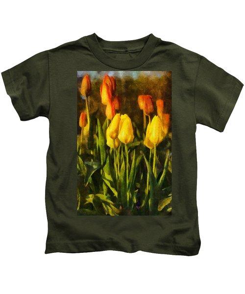 Sunny Tulips Kids T-Shirt
