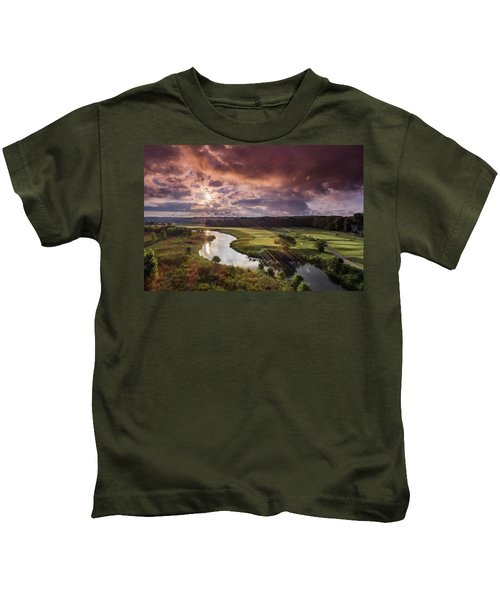 Sunrise At The Course Kids T-Shirt