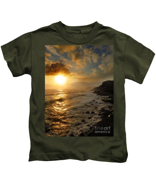 Sunrise By The Rocks Kids T-Shirt