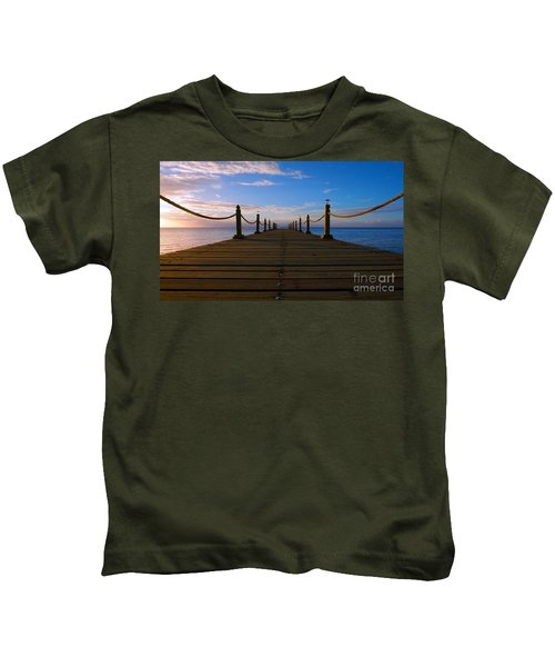 Sunrise Morning Bliss Pier 140a Kids T-Shirt