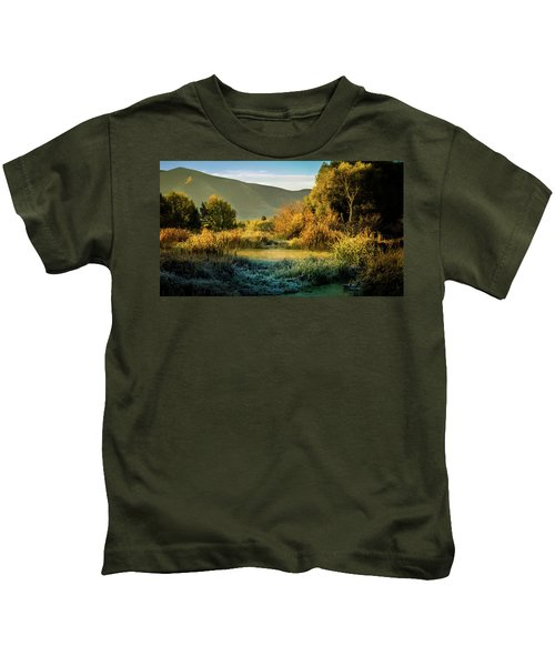 Sunrise On The Duck Marsh Kids T-Shirt