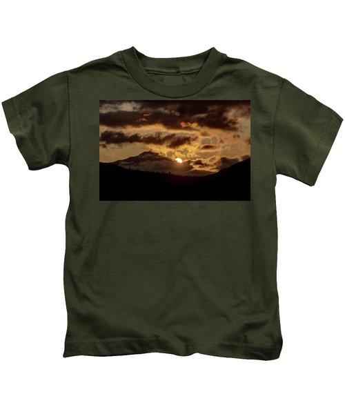 Sunrise Over The Peak Kids T-Shirt