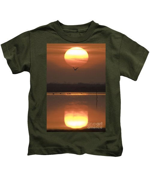 Sunrise Reflection Kids T-Shirt
