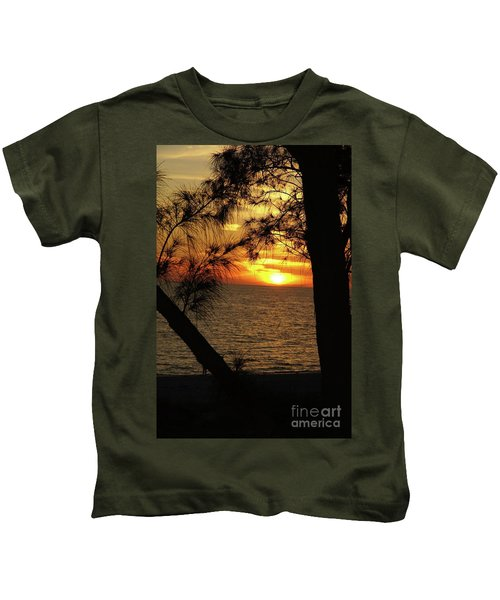Sunset 1 Kids T-Shirt by Megan Cohen