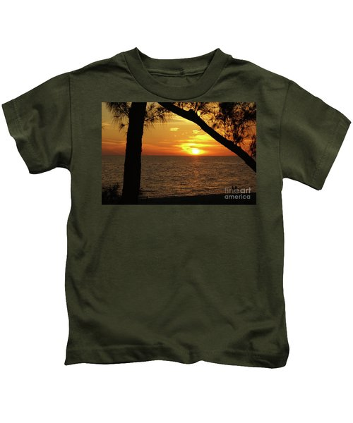 Sunset 2 Kids T-Shirt by Megan Cohen