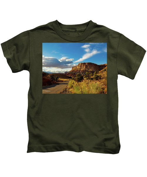 Sunset At Capitol Reef Kids T-Shirt