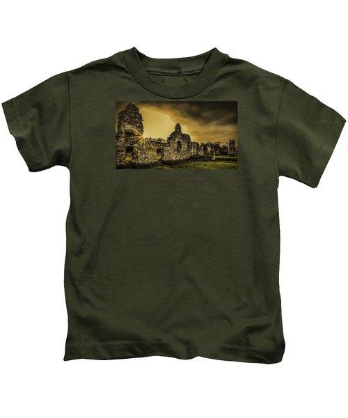 Sunset At Grace Dieu Kids T-Shirt
