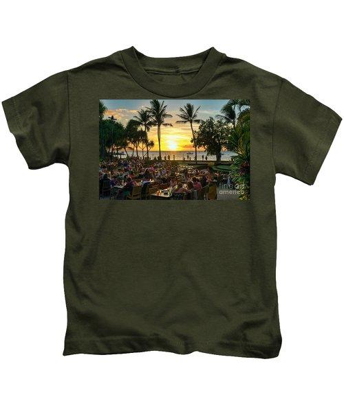 Sunset At Old Lahaina Luau #1 Kids T-Shirt